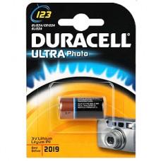 Элемент питания DURACELL CR123 Ultra