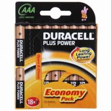 Элемент питания DURACELL LR03 AAA BL18
