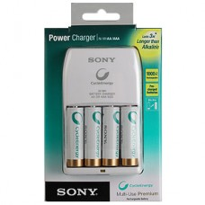 Зарядное устройство SONY Power Charger + 4 AA 2100 mAh BLUE