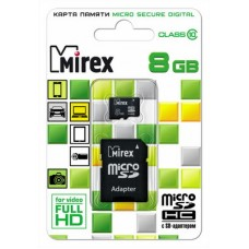Карта памяти MicroSDHC 8Gb 10Class Mirex