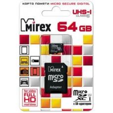 Карта памяти MicroSDXC 64Gb 10Class UHS-1 Mirex