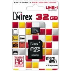 Карта памяти MicroSDHC 32Gb 10Class UHS-1 Mirex