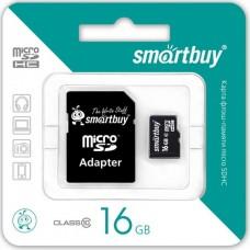 Карта памяти MicroSDHC 16Gb 10Class Smartbuy