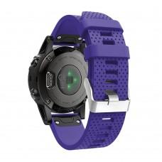 Ремешок для Garmin fenix 5 22мм (Фиолетовый)