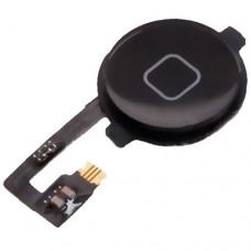 Кнопка HOME в сборе для iPhone 4 черного цвета