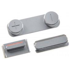 Комплект кнопок для iPhone 5 (серебро)