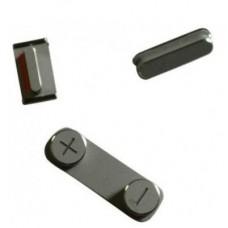 Комплект кнопок для iPhone 5 (черные)