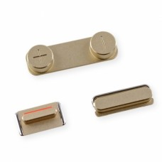 Комплект кнопок для iPhone 5s золотые