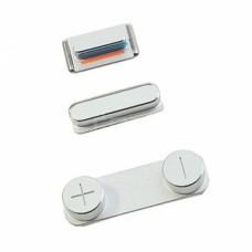 Комплект кнопок для iPhone 5s серебряные
