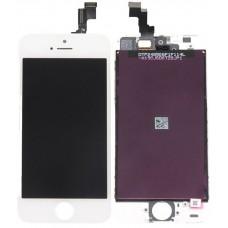 Дисплей для iPhone 5s белый (в сборе, модуль)