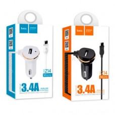 Автомобильное зарядное устройство НОСО Z14 + Micro usb