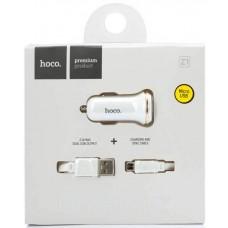 Автомобильное зарядное устройство HOCO z1 + Кабель Micro usb