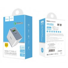 Сетевое зарядное устройство НОСО C24A usb Fast Charge 3.0 & Type-C