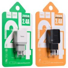 Сетевое зарядное устройство НОСО C33A 2xUSB 2.4A